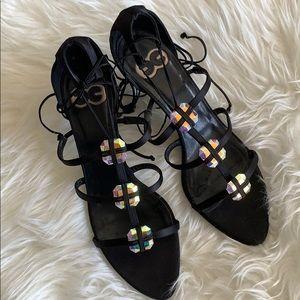 Escada Iridescent Sandals